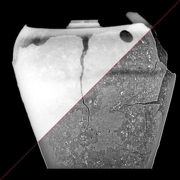ancien pot x-rayed