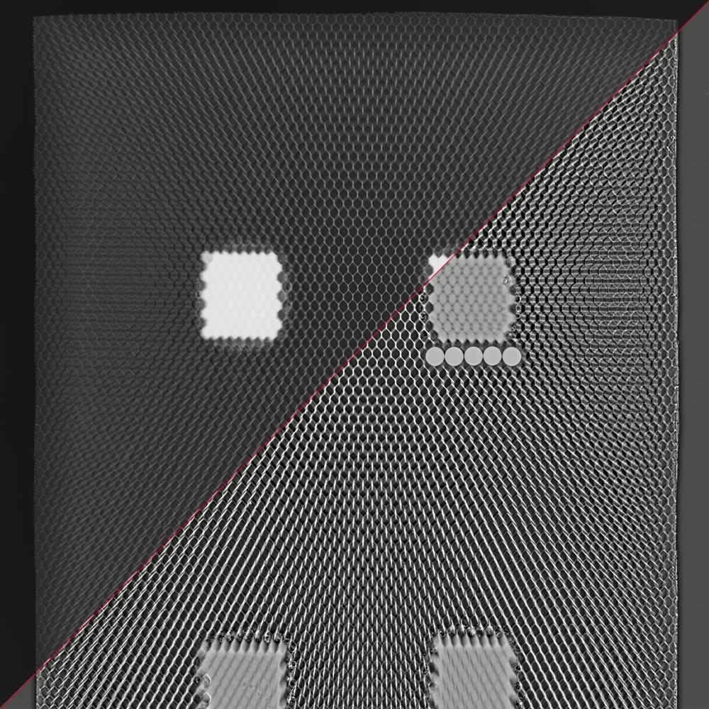 composite honeycomb x-ray