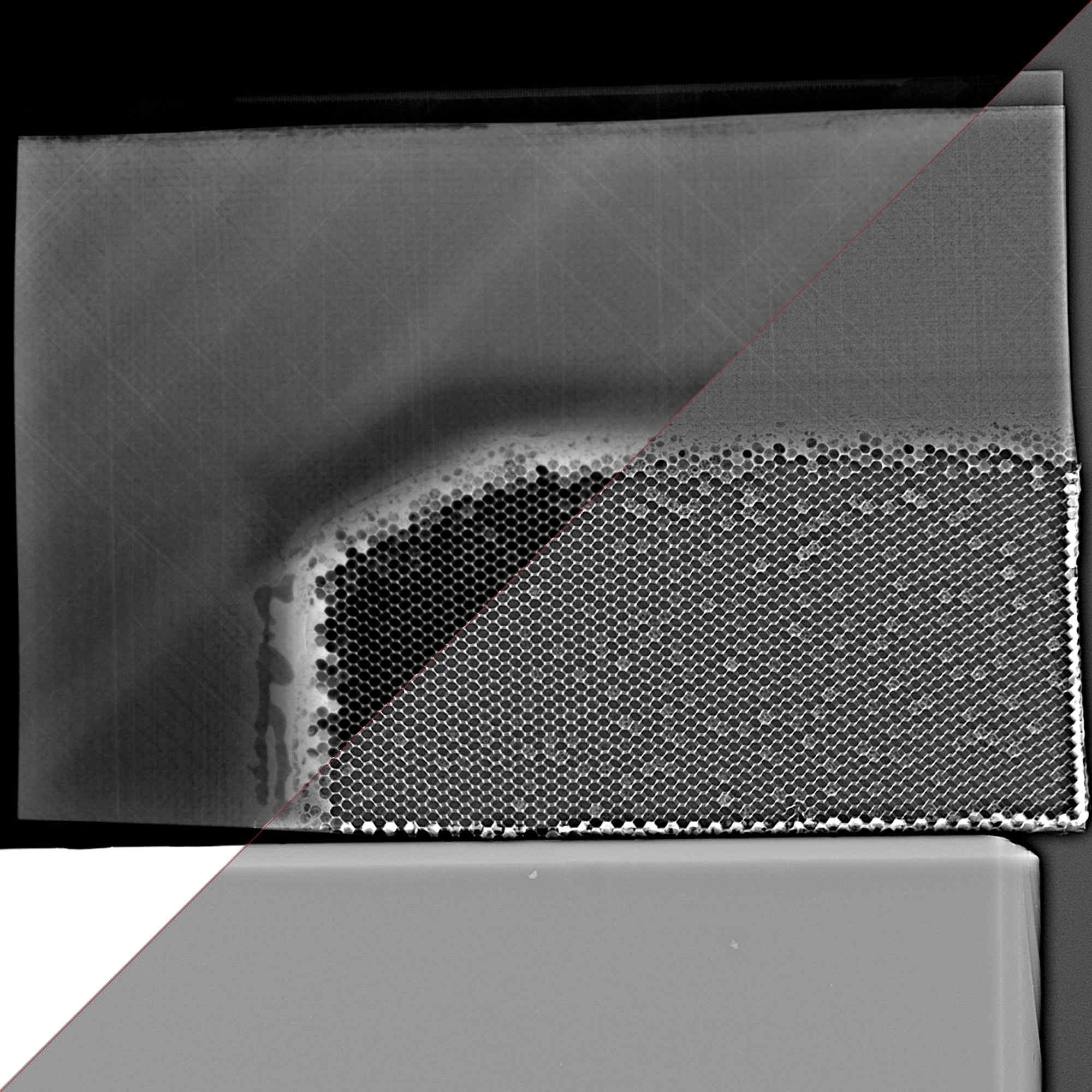 composite x-ray honeycomb