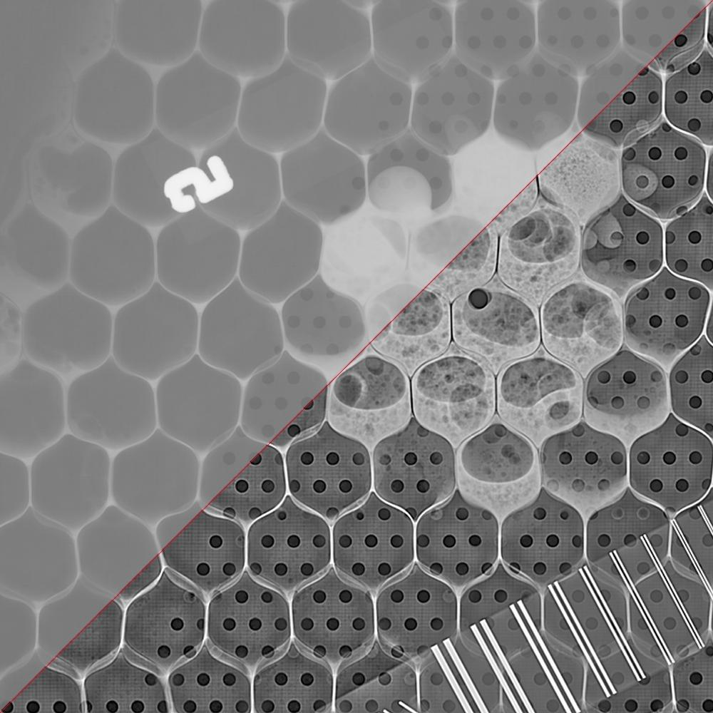 honeycomb composite x-rayed
